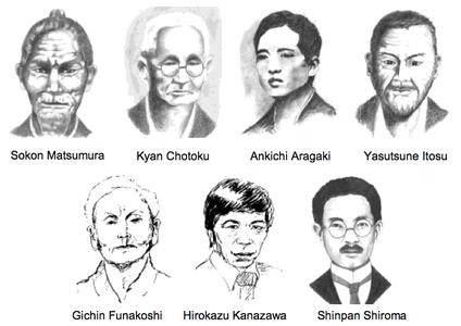 Maßgebliche Meister in der Übertragung der Chintō